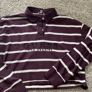 Guess Cropped Collared Shirt